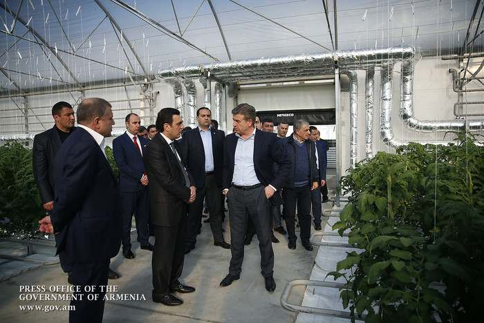 Karen Karapetyan briefed on enterprise development plans in Ararat Marz